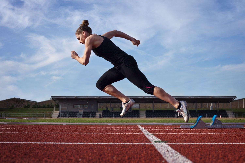 Спортсмен бегун