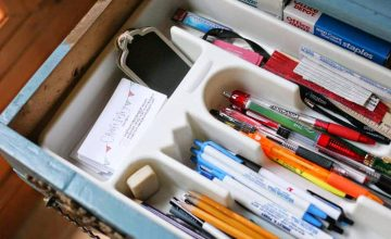 Tips for tackling a desk junk drawer