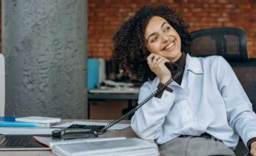 personal brand building happiness office businesswoman calls